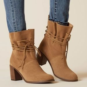 Tom's Suede Leather Mila Booties Sz 9.5